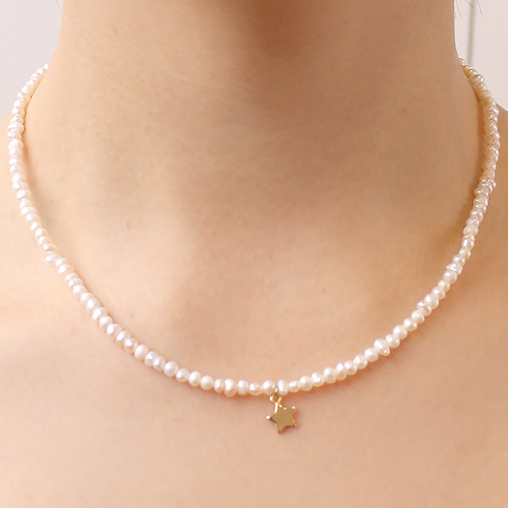 Star Pearl Necklace-10%Sale